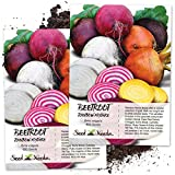 Seed Needs, Rainbow Beet Mixture (Beta vulgaris) Twin Pack of 600...