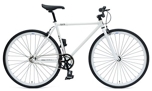 Chill Bikes Single-Speed Commuter Fixie Bike, 53cm/Large, White/Black (Chill Bikes Single Speed Commuter Fixie Bike)