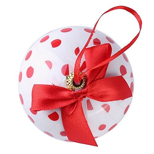 Cue Cue Festive Ready to Hang ( 24 Piece ) 12 Red + 12 White Polka Dots Ornament Set by Cue Cue (Image #2)
