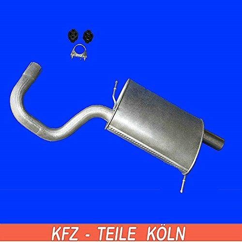 KSC0CIR74 Endschalld/ämpfer Auspuffanlage Montagesatz Set