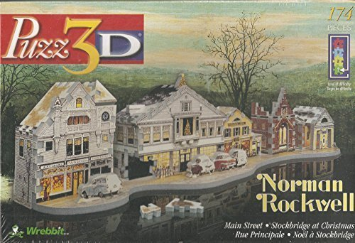 Puzz3D Norman Rockwell Main Street - Stockbridge at Christmas 174 Piece - Street Main Norman