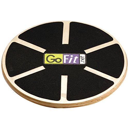 GoFit Wood Wobble Balance Board - Adjustable, Non Slip