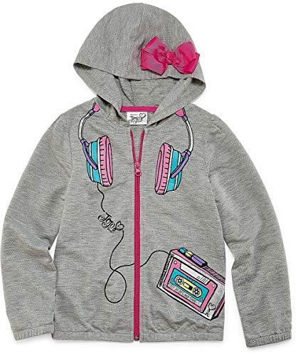 JoJo Siwa Hoodie for Girls Pink Bow Hooded Jacket Coat Lightweight (10/12) by by Jojo Siwa