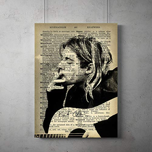 Kurt Cobain Poster, Nirvana canvas print, Kurt Cobain poster, All Prints avialable in 9 SIZES and 3 type of MATERIALS