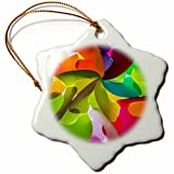 3dRose Danita Delimont - Abstracts - Thailand, Chiang Mai, Thai Market Place - 3 inch Snowflake Porcelain Ornament (orn_276975_1)