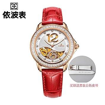 BIWNXAQ Reloj para Mujer Reloj mecánico Hueco Ocio Tendencia Correa de Moda Reloj para Mujer,