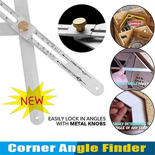 Angle Finder Plafond Reliques Carr/é Rapporteur Outil Portable R/églable En Alliage Daluminium 15 x 6,7 x 0,8 pouces