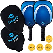 NewFit Blur Pickleball Raquet + Cover   USAPA Approved   Graphite Face & Polymer Core for a Quiet and Ligh