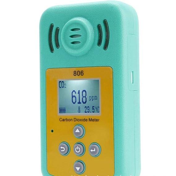 Yongse kxl-806 Mini Detector de dióxido de Carbono portátil CO2 Detector de Concentration de Gas Profesional: Amazon.es: Electrónica