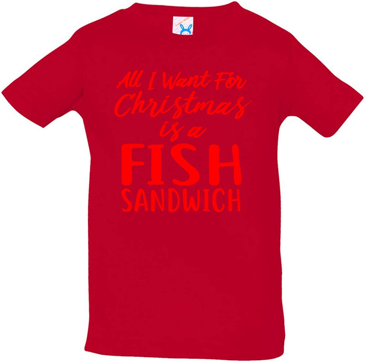 Tenacitee Babys All I Want for Christmas is a Fish Sandwich Shirt