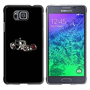 LECELL -- Funda protectora / Cubierta / Piel For Samsung GALAXY ALPHA G850 -- Cool Hot Rod Art --