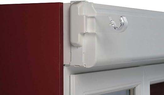 Soportes de bicicleta para fijar en caja para persiana, blanco, Ext. 14 à 21 cm: Amazon.es: Hogar