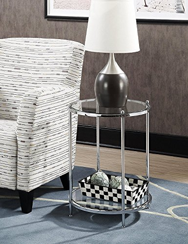 (Indoor Multi-Function Accent Table Study Computer Home Office Desk Bedroom Living Room Modern Style End Table Sofa Side Table Coffee Table Round table )