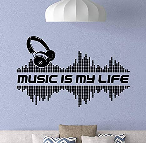 Amazon.com: Música My Life - Adhesivo decorativo para pared ...
