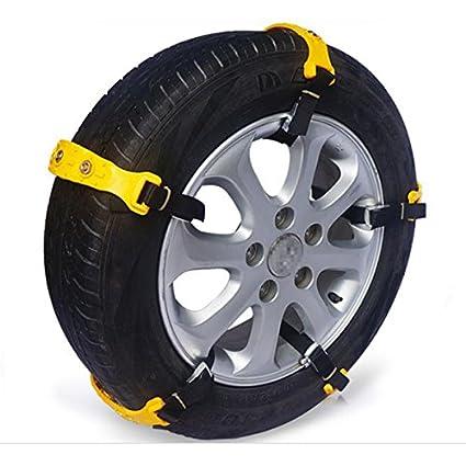 YONGYAO 10Pcs Coche Neumáticos Nieve Cadenas De Buey Tendón Van Rueda Neumático Antideslizante TPU Cadenas Set