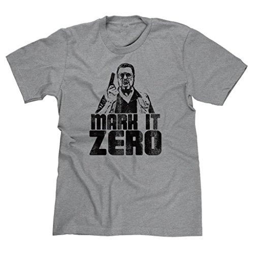 FreshRags Mark It Zero Funny Bowling Gun Men's T-shirt