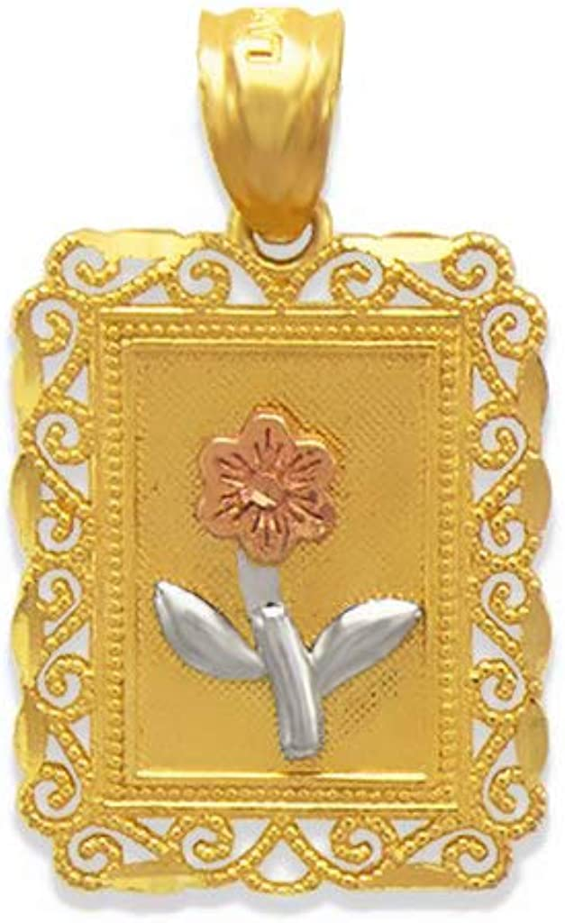 Triostar 14K Gold Plated Simulated Diamond Studded 925 Sterling Silver Designer Pendant Necklace Jewelry