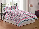 Bombay Dyeing Cardinal Cotton Double Bedsheet With 2 Pillow Covers-Pink