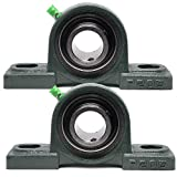 """PGN - UCP205-16 Pillow Block Mounted Ball Bearing - 1"""" Bore - Solid Cast Iron Base - Self Aligning"""