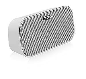 Rapoo A500 - Altavoces portátiles (6W, 150 - 20000 Hz, Inalámbrico y alámbrico, NFC/Bluetooth/3.5mm, 4.0, Rectángulo) Color blanco