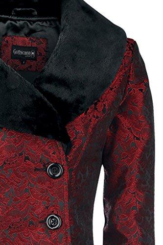 Gothicana by EMP Abrigo Brocado Rojo Sangre Abrigo Mujer Rojo/Negro XXL: Amazon.es: Ropa y accesorios