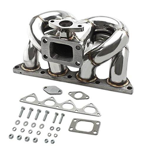 Honda B-Series Stainless Steel T3 Turbo Manifold Ram Horn Style with 35mm/38mm Wastegate
