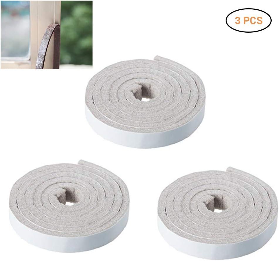 Mallalah - Cinta adhesiva de espuma para puerta, autoadhesiva, para pelar la intemperie, multisuperficie, cinta de espuma, blanco
