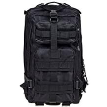 Baiyu 25L 600D Military Army Patrol Backpack MOLLE Assault Rucksack Tactical Combat Pack Special Forces Daypack Waterproof Hiking Trekking Bag Nylon Oxford 0.9KG