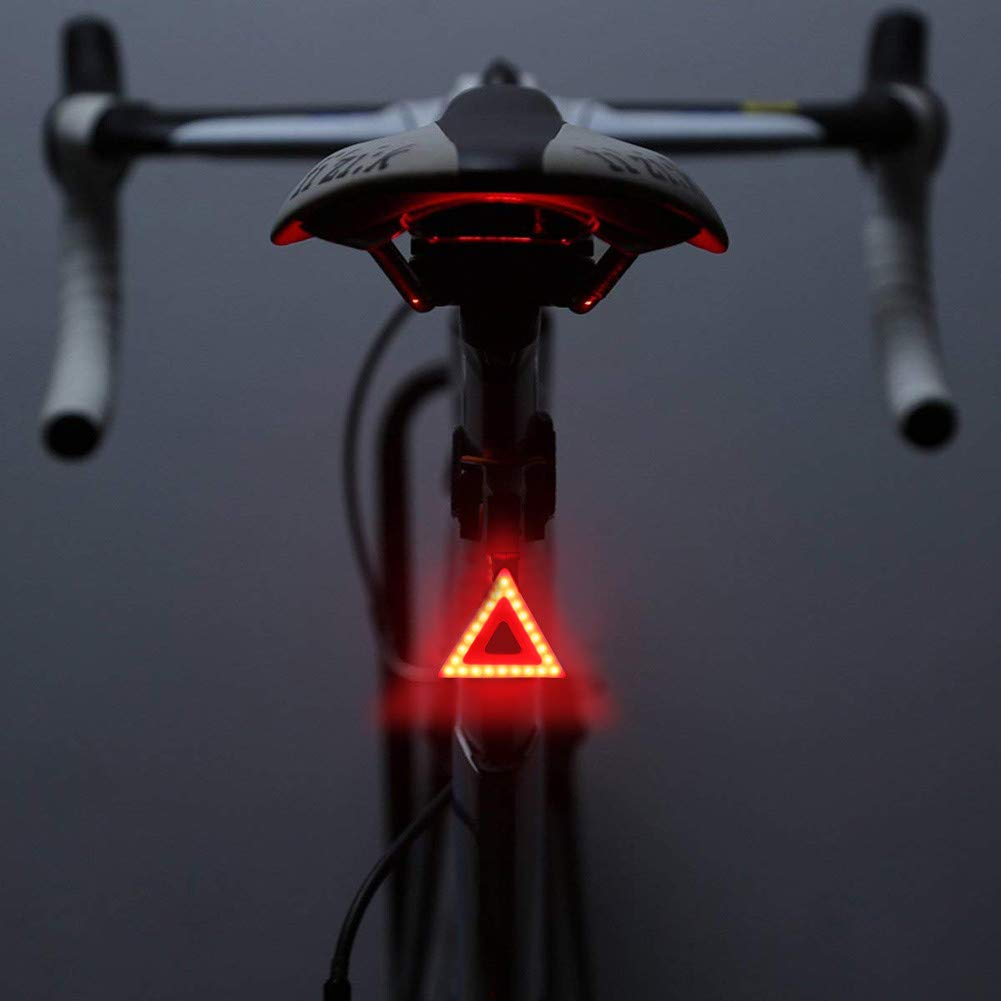 MASO Bike Taillights-USB Rechargeable Cycling Bicycle Tail Warning Light Rear Safety 5 Modes Waterproof Heart Shaped