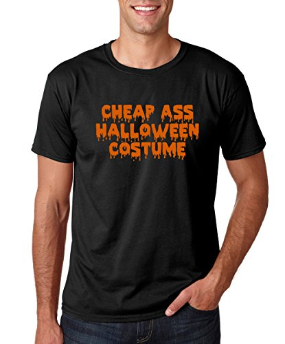 Crazy Bros Tee's Cheap Ass Halloween Costume- Funny Halloween Premium Men's T-Shirt (Large, Black) (Cheap Costume Ideas For Halloween)