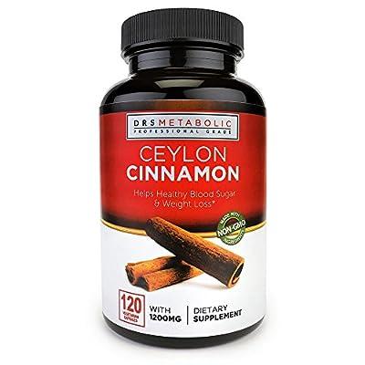 Doctors Metabolic Cinnamon Capsules 600 mg Ceylon Cinnamon Capsule Natural blood-sugar supplement; Fire Thermogenic weight loss; Anti-inflammatory pure cinnamon capsules are organic Ceylon Cinnamon