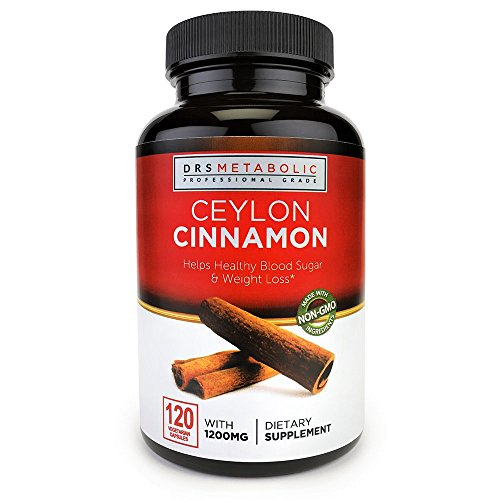 Doctors Metabolic Cinnamon Capsules 1200 mg Ceylon Cinnamon Capsule Natural blood-sugar supplement; Fire Thermogenic weight loss; Anti-inflammatory pure cinnamon capsules are organic Ceylon Cinnamon (Best Cinnamon To Lower Blood Sugar)