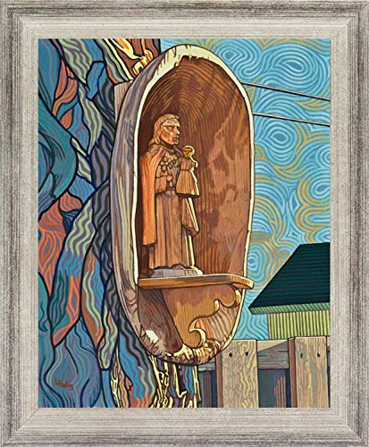 - Trinity Stores Wall Framed Religious Art Print - Silver Flat-13x16 St. Joseph and Infant Jesus by Lewis Williams, OFS