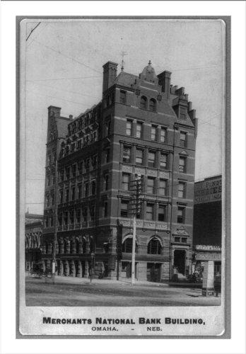 Historic Print (L): [Bank building exteriors: Merchants National Bank, Omaha,...