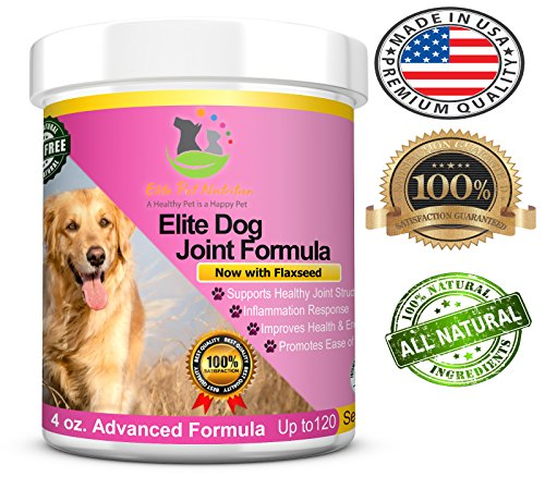 (Advanced All Natural Elite Dog Joint Formula Fast Acting Dog Joint Supplement Powder Helps Sore Joints, Hip & Joint Health with Glucosamine, Chondroitin, MSM, Flaxseed)