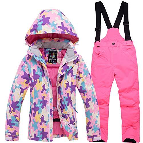 Ensemble Imperméables Pink D'hiver Au Pièces De En 2 Enfants Pour A Pantalons Veste Vent Extérieur Ski MzqpSUV