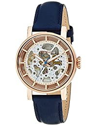 Fossil Women's ME3086 Original Boyfriend Automatic Leather Watch-Blue