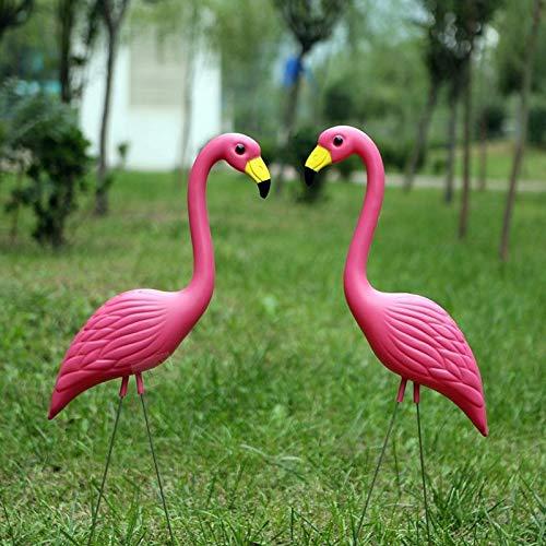 Lanbinxiang@ Home Garden Party Simulazione PE materiale flamingo rosa decorazione del prato, dimensioni  56 cm x 24 cm, giardinaggio