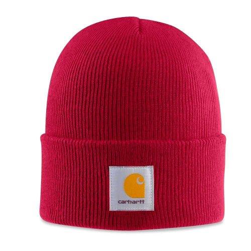 Carhartt - Casquette Acrylique - Rouge CHA18INR Homme d'hiver Beanie laine Ski bonnet CHA18INR