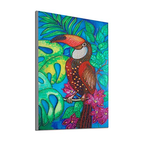 Mome Diamond Painting 5D DIY Diamond Painting by Number Kit for Adult or Kids, Full Drill Diamond Embroidery Kit Home Wall Decor- Many Phoenix (Bird) ()