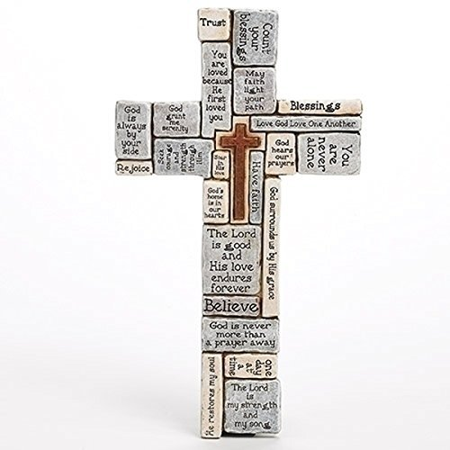 Day Wall Plaque (Christians Words and Saying Crossword 16 inch Resin Stoneware Wall Cross)
