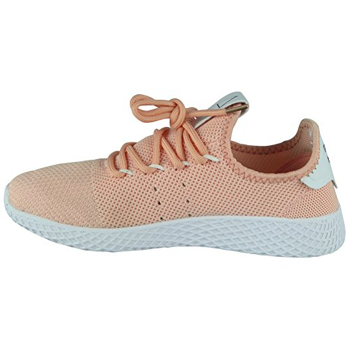 Running Loud Gym Womens Lace 3 Pink Sports Trainers Fitness Ladies up Flat Comfy 8 Shoes Size Look rvxwqvHE