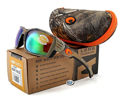 Costa Del Mar Cortez Sunglasses Realtree Xtra Camo/Green Mirror - Mar Camo Glasses Costa Del