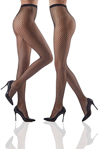 9fc54d7441 Set of 2 Lurex Silver   Golden Pantyhose High Waist Sheer Seamless Fishnet  Tights (Small Medium