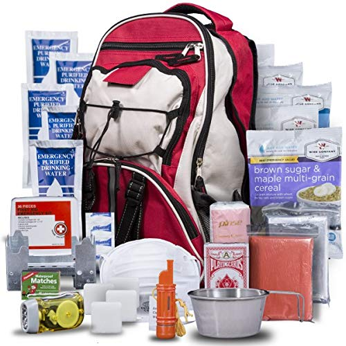 Wise Company Survival Kit, Food and Emergency Supply Backpack, Red by Wise Company (Image #9)