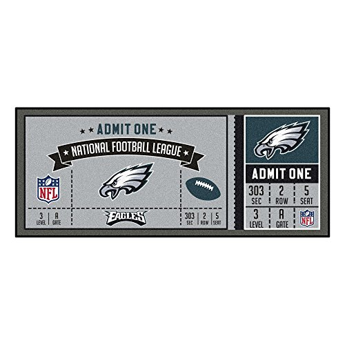 Fanmats NFL Philadelphia Eagles NFL-Philadelphia Eaglesticket Runner, Team Color, One Size