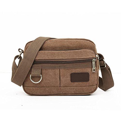 Bolsas de lona para hombres, Kukul Bolsos de hombro - 2017 Men's Crossbody Bag Men Messenger Bags (23CM*8CM*17CM) Marrón