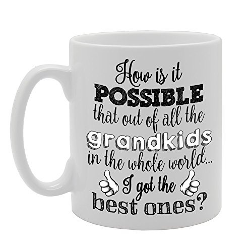 Best Grandkids In The Whole World Coffee Mugs Gifts for Women Ceramic Mug 11oz Present for Him Present for Her (Whole Trees Christmas 2017 Foods)