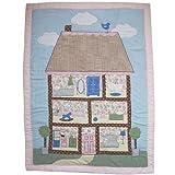 Powell Craft Cot Crib Quilt Multicoloured 102 x 76 Cm