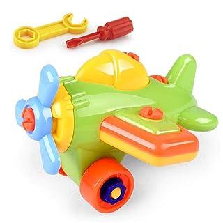 FOONEE smontare Set di Giocattoli, Aereo Trenino Giocattolo Racing Car Toy, Stelo Learning Educational Construction Tool ingegneria Set (C)
